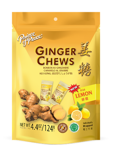 Prince of Peace Ginger Chew Lemon 4oz