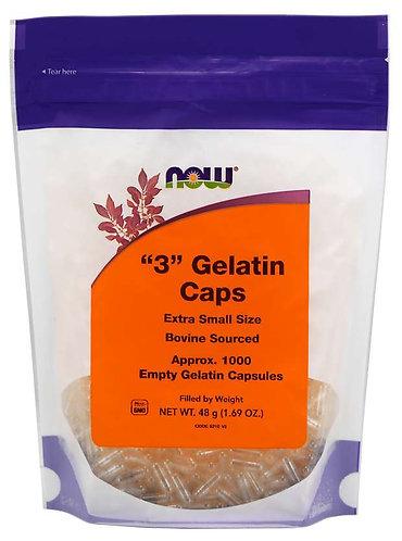 Empty Capsules, Gelatin, #3