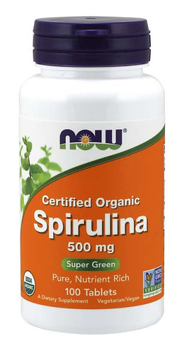 Spirulina 500 mg Tablets, Organic