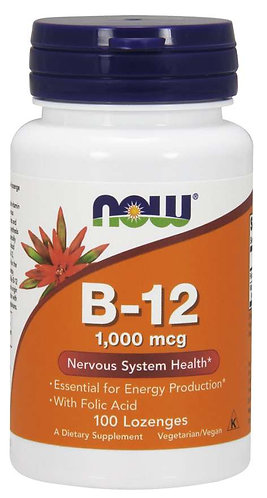 Vitamin B-12 1000 mcg Lozenges, 100ct