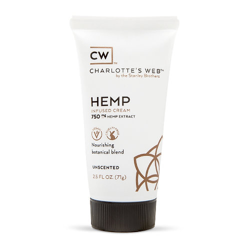 Charlotte's Web Hemp Infused Cream 2.5oz