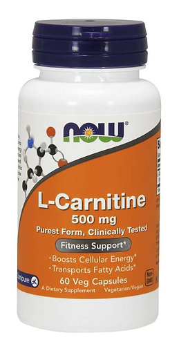 L-Carnitine 500 mg Veg Capsules, 60 ct