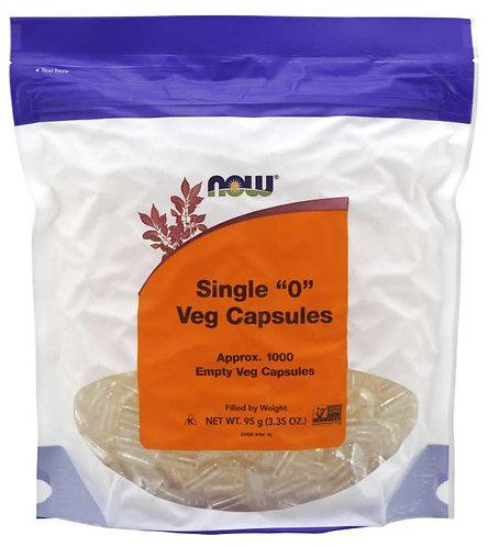 "Empty Capsules, Vegetarian, Single ""0""- 1000 ct"