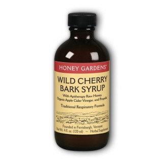 Honey Gardens Wild Cherry Bark Honey Syrup, 4oz