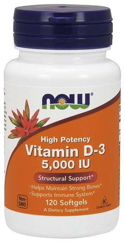 Vitamin D-3 5000 IU Softgels