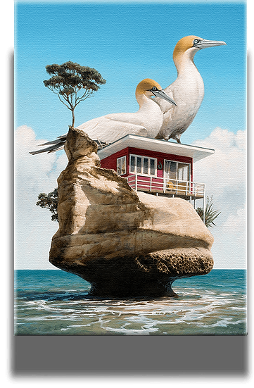 Gannet Rock - Stretched Canvas