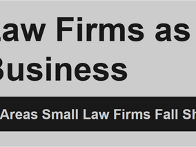Law Firms as a Business - Visual Presentation