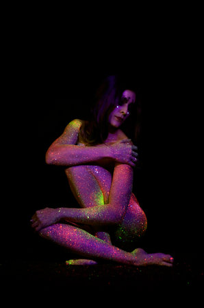charline videau body painting val d'oise portrait