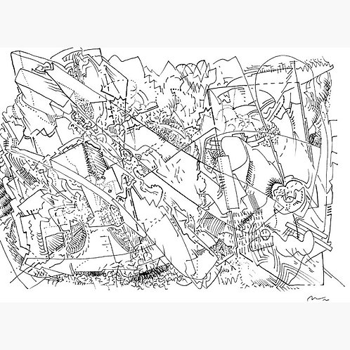 10 Framed Drawings by Curt Dilger