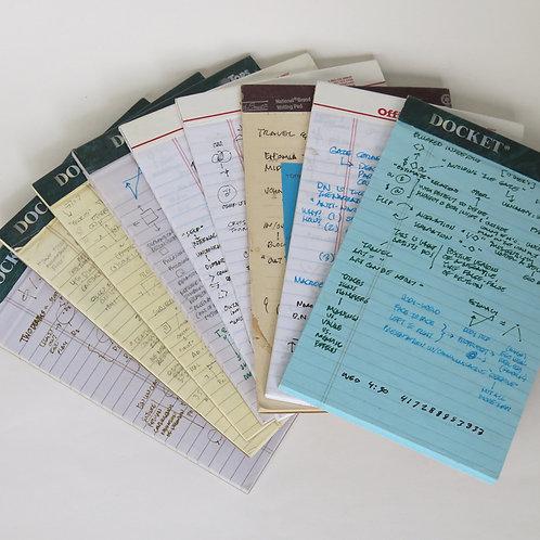 Notebooks on boundary language (sets of 10)