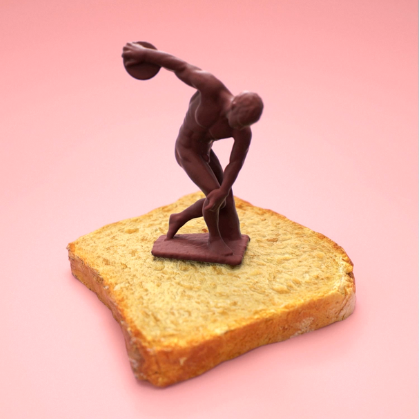 Discobolus on toast