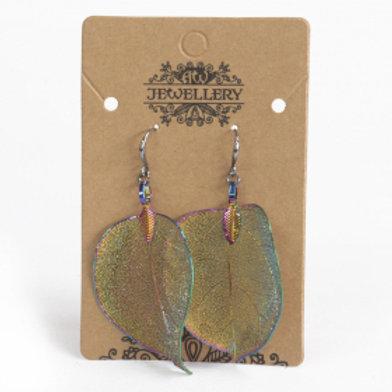 Earrings - Bravery Leaf -Multicoloured