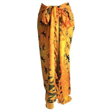 Bali Gecko Sarongs - Yellow