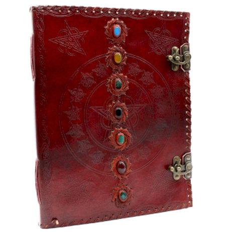 Huge 7 Chakra Leather Book - 10x13