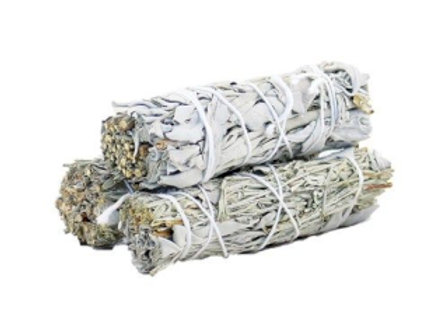 Smudge Stick - White Sage & Blue Sage 10cm
