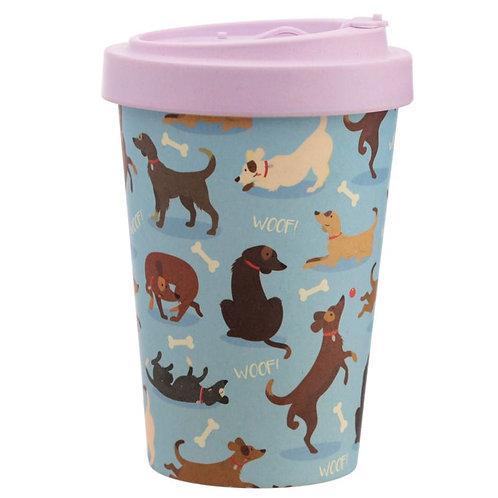 ECO Catch Patch Dog Reusable Screw Top Bamboo Composite Travel Mug
