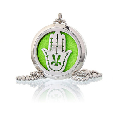 Aromatherapy Diffuser Necklace - Hand of Fatima 30mm