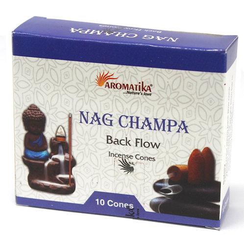 Aromatika Backflow Incense Cones - Nag Champa