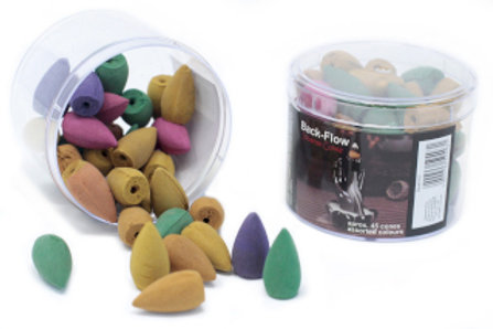 Backflow Incense Cones - Assorted Fragrances (45)