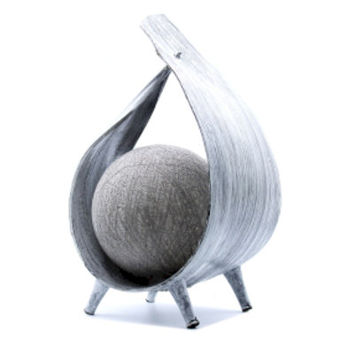 Natural Coconut Lamp - Greywash Wrapover