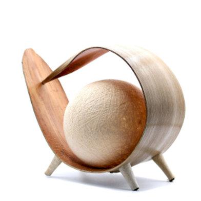 Natural Coconut Lamp - Natural Loop