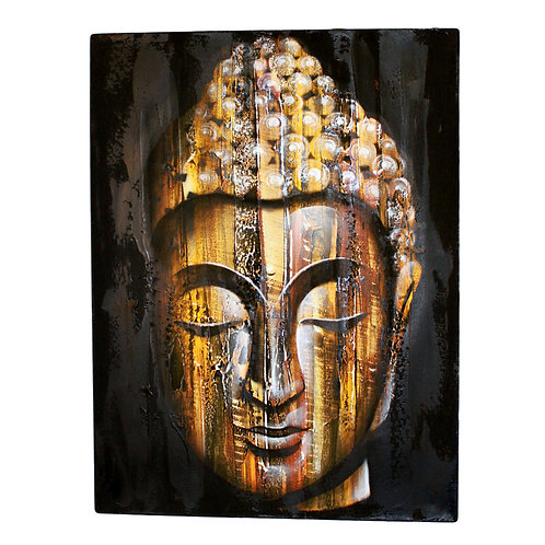 Abstract Wood Buddha  Golden