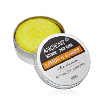 Vegan Solid Shampoo Bar 60g - Lemon Ginger