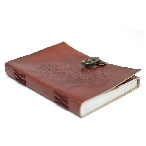 """Leather Dragon Notebook (6x8"""")"""