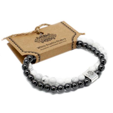Magnetic Gemstone Bracelet - White Howlite Chakra