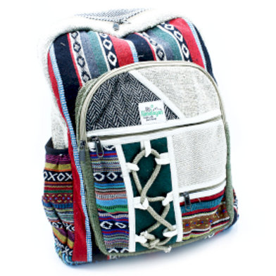 Large Backpack - Rope & Pockets Style
