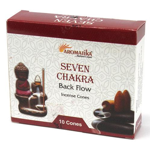 Aromatika Backflow Incense Cones - Seven Chakra