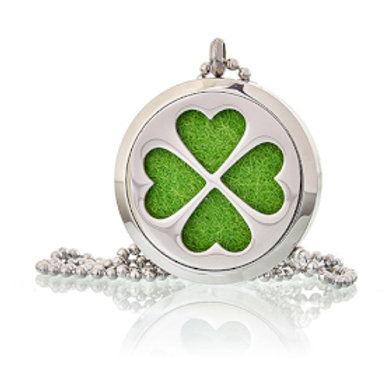 Aromatherapy Diffuser Necklace - Four Leaf Clover 30mm