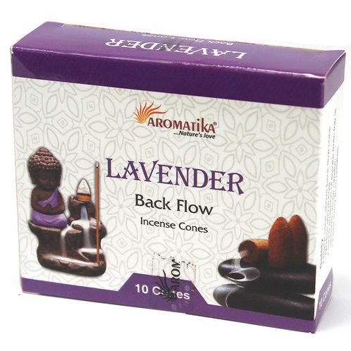 Aromatika Backflow Incense Cones - Lavender