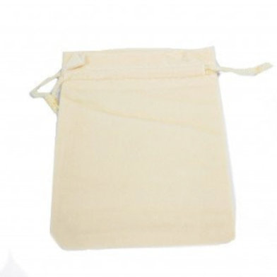 Quality Velvet Pouch -  Ivory 10x12cm