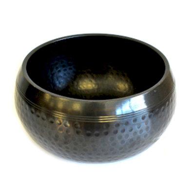 Large Black Beaten Bowl - 18cm