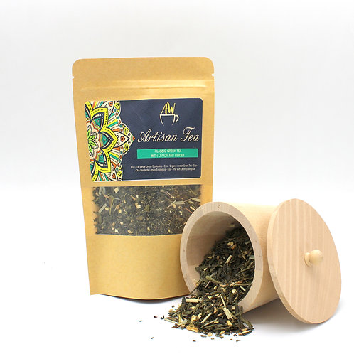 Eco Classic Green Tea with Lemon and Ginger 50g