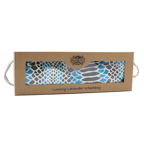 Luxury Lavender Wheat Bag in Gift Box - Blue Viper
