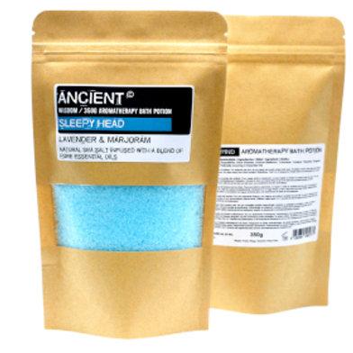Aromatherapy Bath Potion in Kraft Bag 350g -Sleepy Head