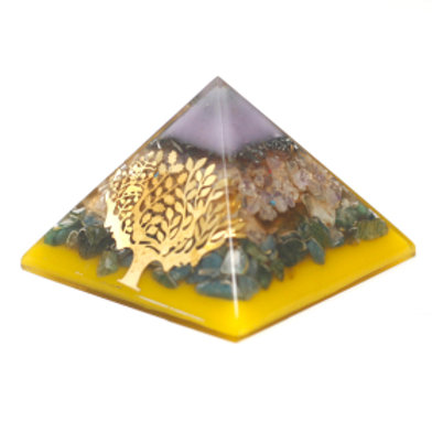 Large Organite Pyramid  - Tree(gold base)