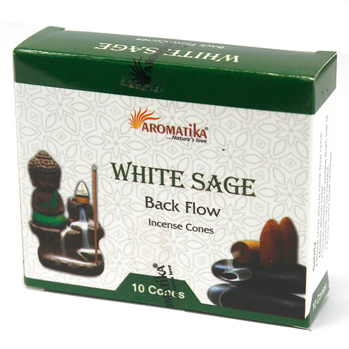 Aromatika Backflow Incense Cones - White Sage