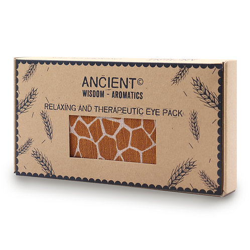 Lavender Natural Cotton and Juco Eye Pillow in Gift Box - Madagascar Giraffe