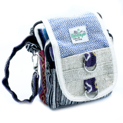 Body-Cross Natural Hemp & Jhari Travel Bag