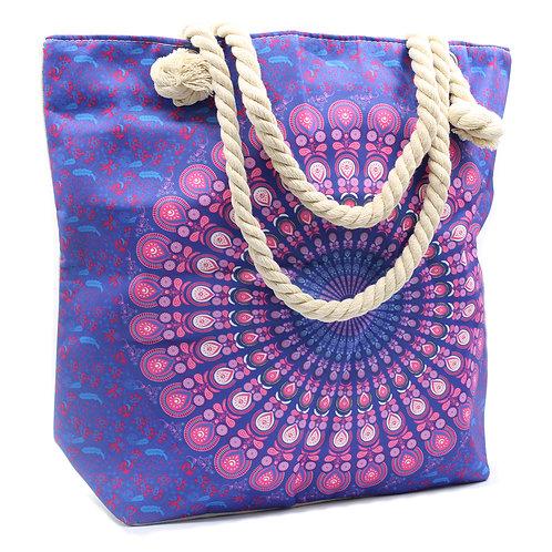 Rope Handle Mandela Bag - Purple Blue