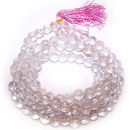 Mala Beads - 108 Rock Crystal
