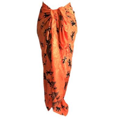 Bali Gecko Sarongs - Orange