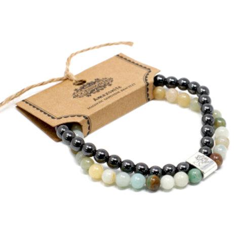 Magnetic Gemstone Bracelet - Amazonite