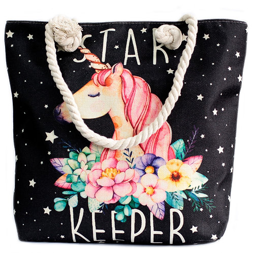 Rope Handle Bag - Star Keeper Unicorn