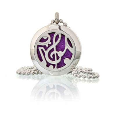 Aromatherapy Diffuser Necklace - Music 30mm