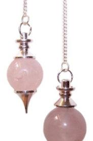 Sphere Pendulum - Rose Quartz