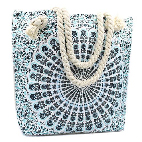 Rope Handle Mandela Bag - Sky Blue